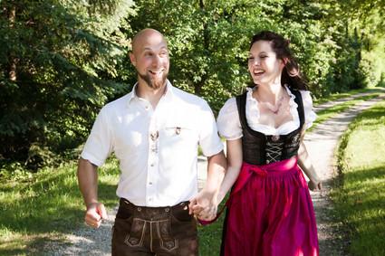 HOCHZEIT Bettina&Josef Zusammen Spaß haben