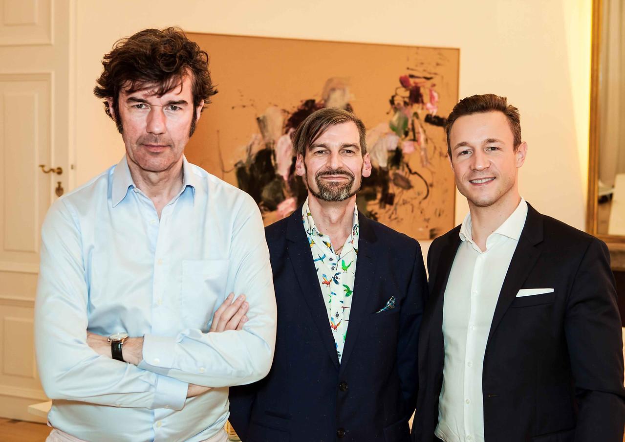 Stefan Sagmeister und Gernot Blümel zusammen mit Nikolaus Köhler