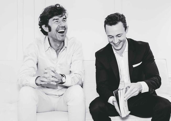 Stefan Sagmeister und Gernot Blümel