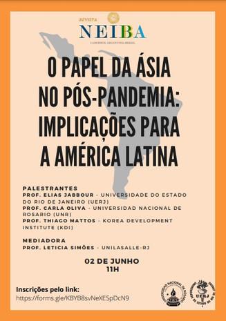 O papel da Ásia no pós-pandemia. Inscreva-se!