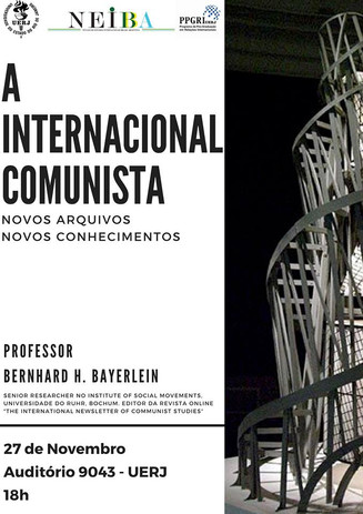 """Palestra """"A Internacional Comunista: Novos arquivos, novos conhecimentos"""" (VIDEO)"""