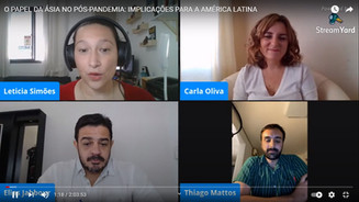 """Link para o evento """"O papel da Ásia no pós-pandemia: implicações para a América Latina"""""""