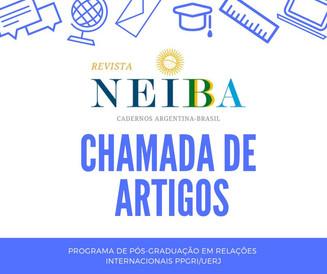 Chamada de artigos - Revista NEIBA