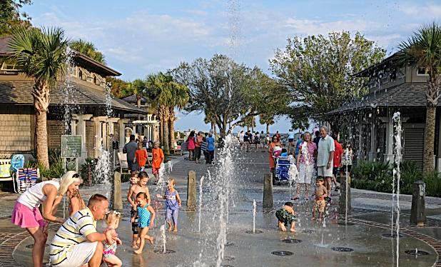 Coligny Beah Park Splash Pad Hilton Head Island