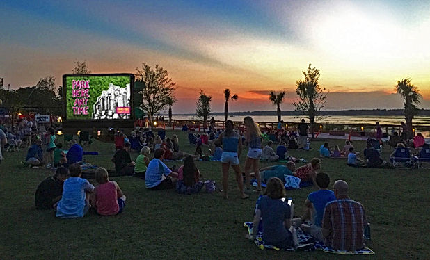 shelter cove movie in the park -hilton head movie theaters