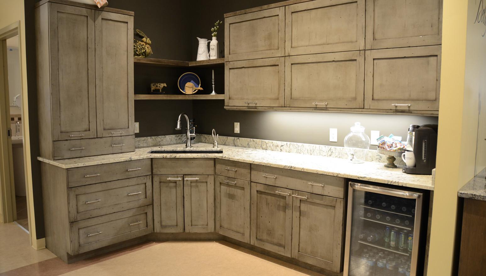 Design Craft Grey Cabinet Working Display