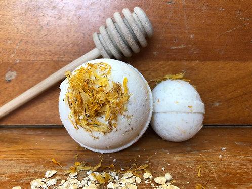 Bombe de bain-Avoine, miel et calendula