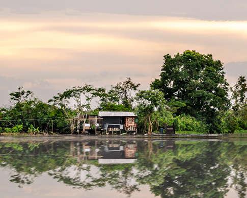 Reflection d'une maison