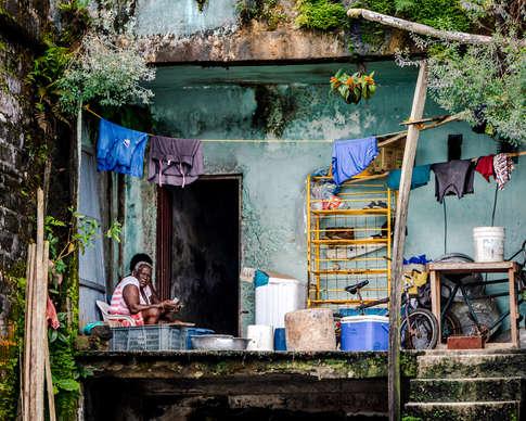 Maison aux bord du fleuve Atrato