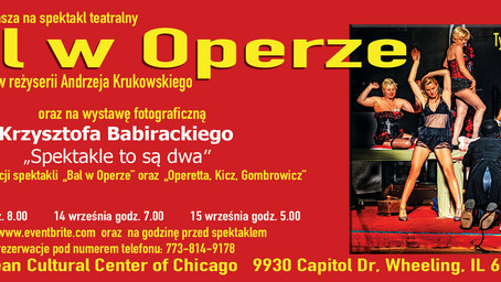 Bal w operze, 13-15 września 2019 w Wheeling