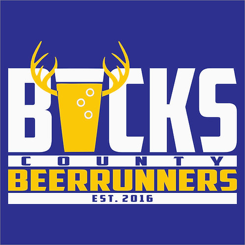Bucks County Beer Runners logo3 mens shirt