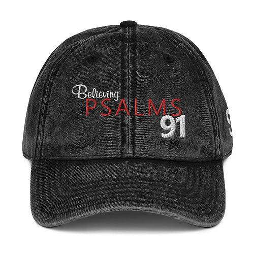 Believing Psalms 91 – Vintage Cotton Twill Cap