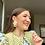 Thumbnail: Flower pot crocheted earrings