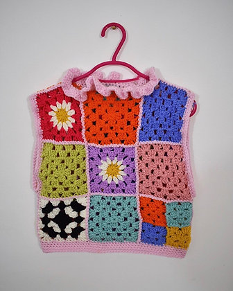 Patchwork vest- Medium