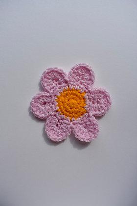 Crocheted flower motif- PDF pattern