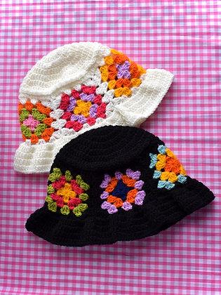 Granny squares floppy hat