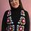 Thumbnail: Sparkly crocheted V-neck vest- Medium