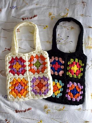 Granny squares tote bag