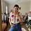 Thumbnail: Granny squares crocheted waistcoat