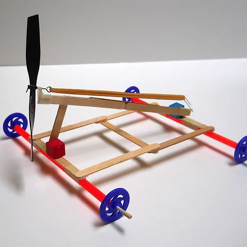 Rubber Band Powered Car Kit