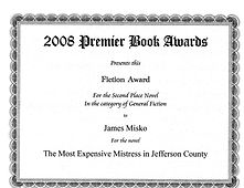 Mistress, 2008 Premier Book Awards.jpg