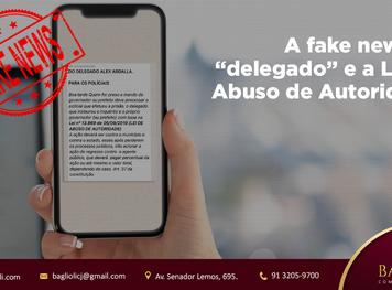 """A FAKE NEWS DO """"DELEGADO"""" E A LEI DE ABUSO DE AUTORIDADE"""