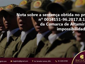 Nota sobre a sentença obtida no processo nº 0014151-96.2017.8.14.0005 da Comarca de Altamira