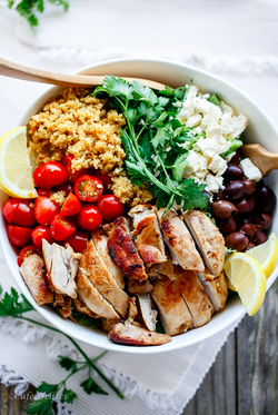 Chicken Salad with Lemon Quinoa