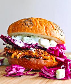 Quinoa Burgers with Tzatziki Sauce