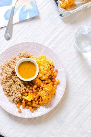 Cauliflower, Quinoa, and Chickpeas