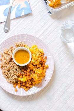 Cauliflower, Quinoa, and Chickpeas