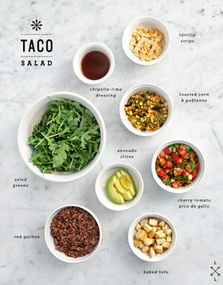 Quinoa Taco Salad with Chipotle Lime