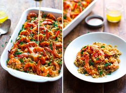 Garlic Butter Shrimp and Quinoa