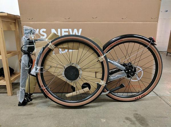 Unassembled Bicycle
