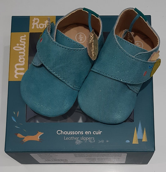 Chaussons cuir Moulin  Roty