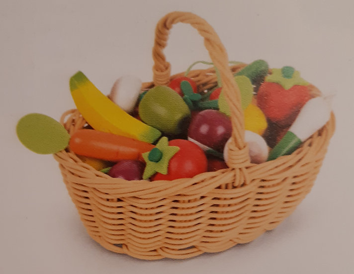 Panier fruits et légumes  en bois