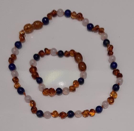 Ensemble collier et bracelet d'Ambre