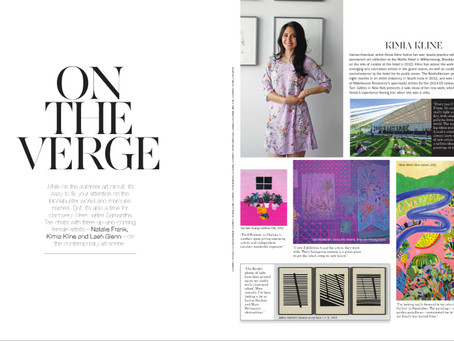"""On the Verge"" in Cultured Magazine"