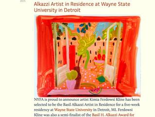 Awarded The Basil Alkazzi Residency
