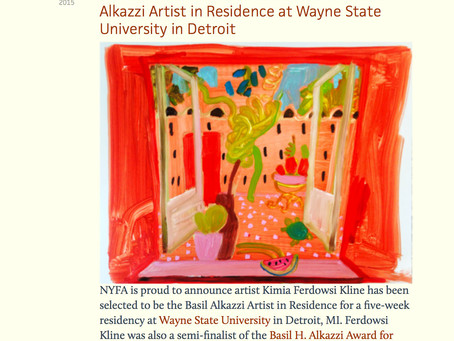Awarded The Basil Alkazzi Residency