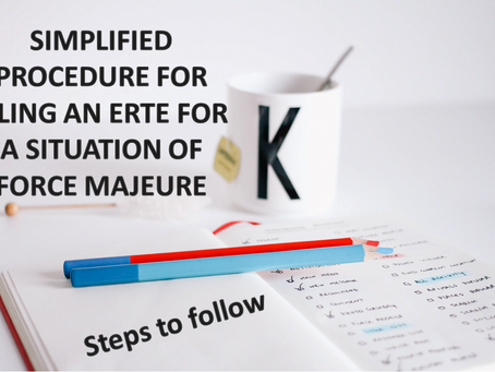 SIMPLIFIED PROCEDURE FOR FILING AN ERTE FOR A SITUATION OF FORCE MAJEURE