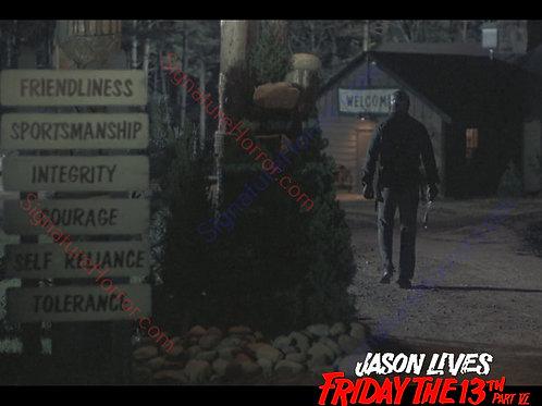C.J. Graham - Jason Lives: Friday the 13th Part VI - Camp Sign - 8X10