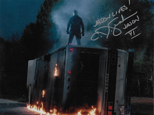 C.J. Graham signed 8X10 On Top of RV
