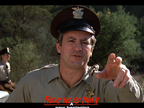 Marco St John as Sheriff Tucker Friday the 13th Part 5 -Pointing 8X10