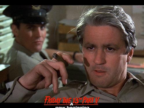 Marco St John as Sheriff Tucker Friday the 13th Part 5 - Cigar Closeup 8X10