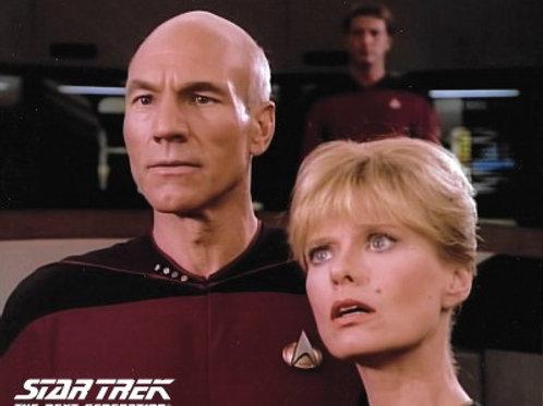 Brooke Bundy - Star Trek: TNG - with Picard 1 - 8X10