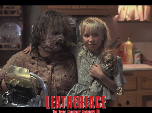 Jennifer Banko - Leatherface: TCM III - With Leatherface - 8X10