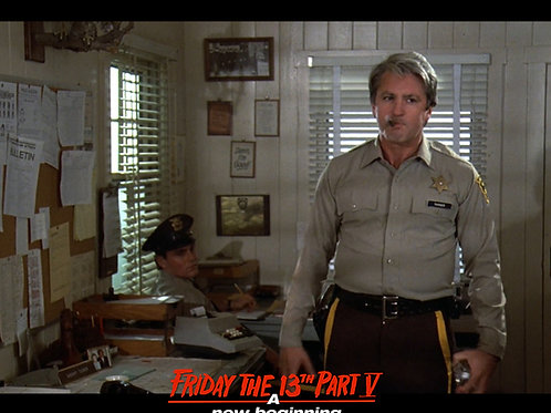 Marco St John as Sheriff Tucker Friday the 13th Part 5 - Enraged 8X10