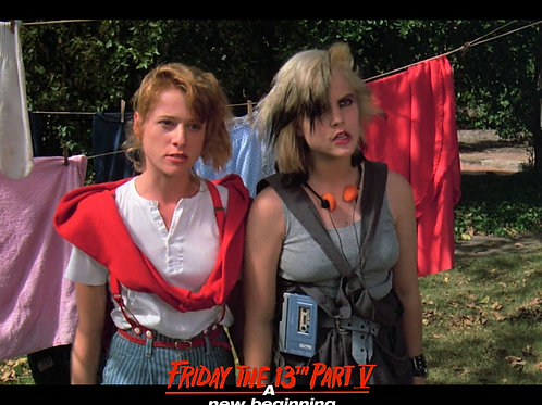 Tiffany Helm as Violet Friday the 13th Part 5 - Clothesline with Robin 8X10