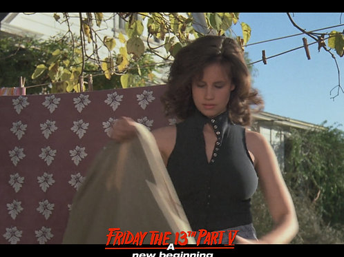 Deborah Voorhees as Tina Friday the 13th Part 5 - Clothesline 8X10